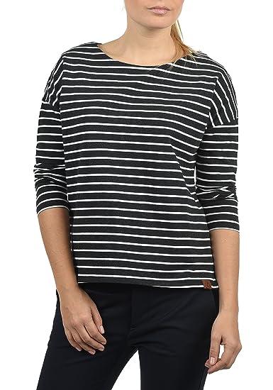 DESIRES Leni Damen Sweatshirt Pullover Sweater Mit U-Boot-Ausschnitt Und  3/4 Arm