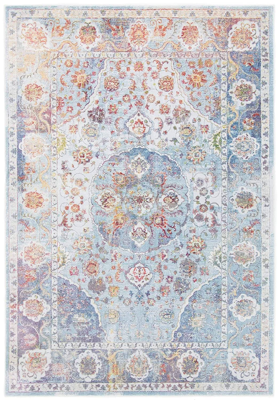 CarpetFine  Vintage Heaven Teppich 120x170 cm Blau - Ornament