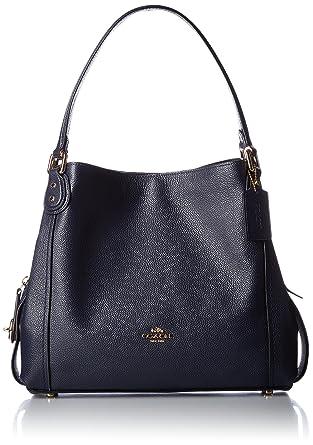 29784531f2 Coach Edie 31 Ladies Large Pebbled Leather Navy Shoulder Bag 57125 ...