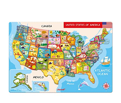 Amazoncom Janod Magnetic USA Map 197Inches x 134Inches