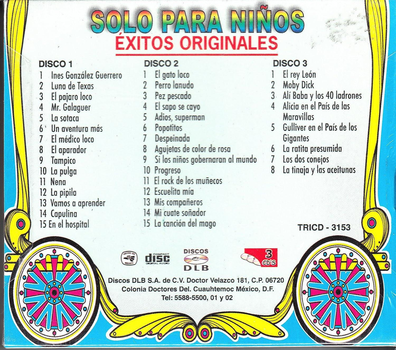 Chabelo Capulina - Solo Para Niños: Varios Artistas Contiene 3 CDS - Amazon.com Music