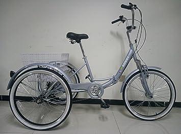 SCOUT TRIKES Adultos Triciclo, - Marco con suspensión, 24 DE Ruedas, de 6 Marchas Shimano de Engranaje, Gris: Amazon.es: Deportes y aire libre