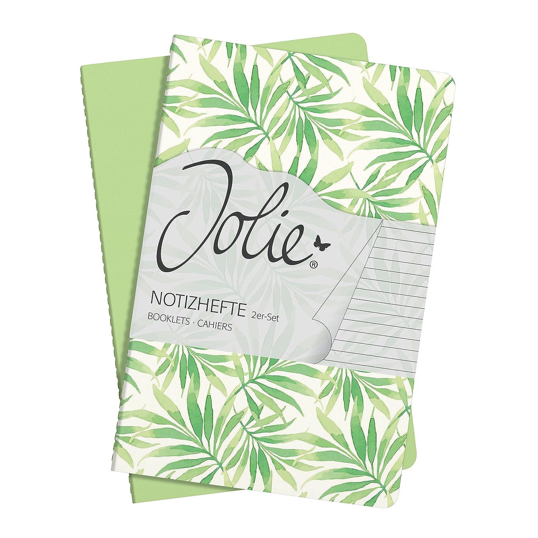 SIGEL JN707 - Set de 2 cuadernos, color verde