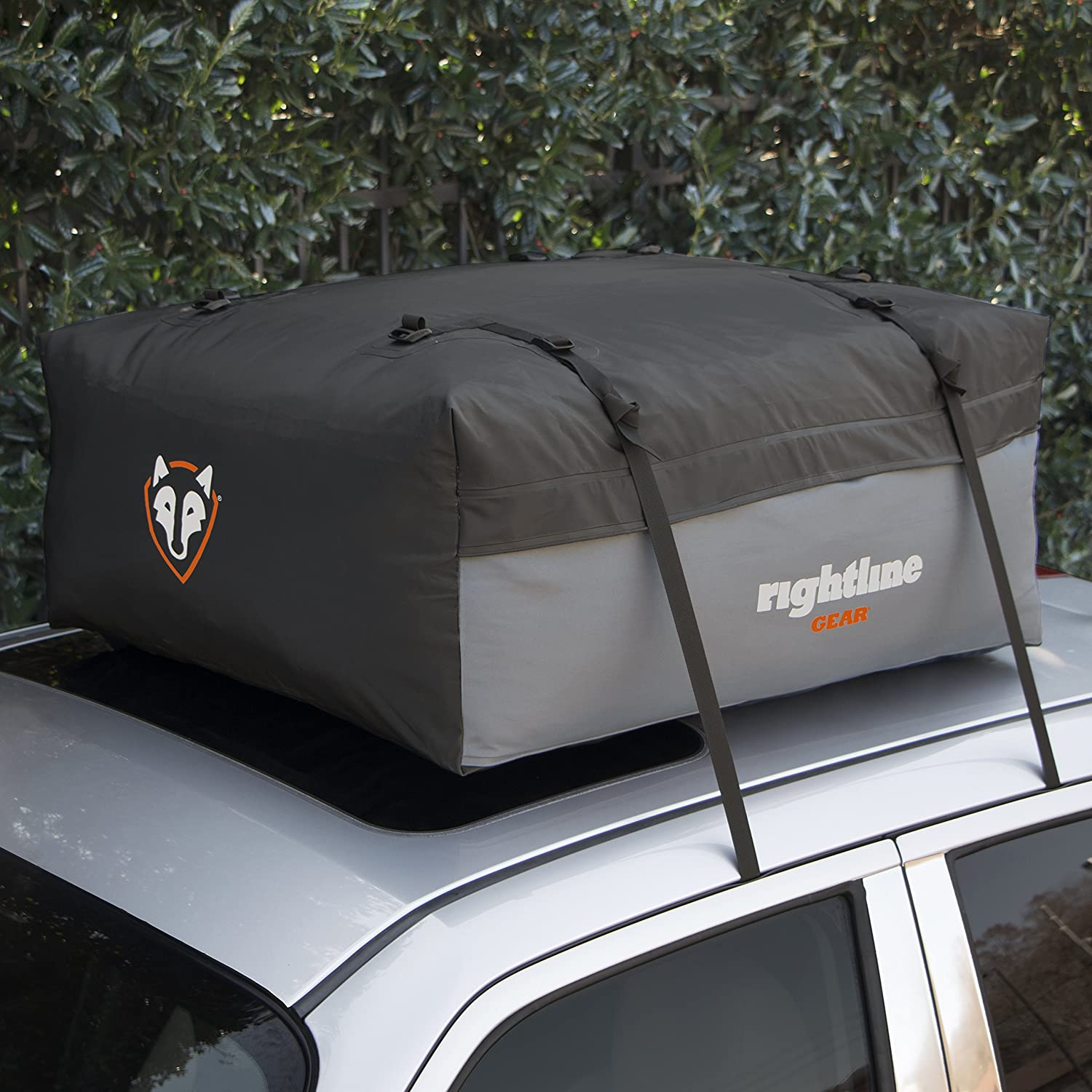 Attaches With or Without Roof Rack 100S50 9 cu ft Sized for Compact Cars 100/% Waterproof Rightline Gear Sport Jr Top Carrier