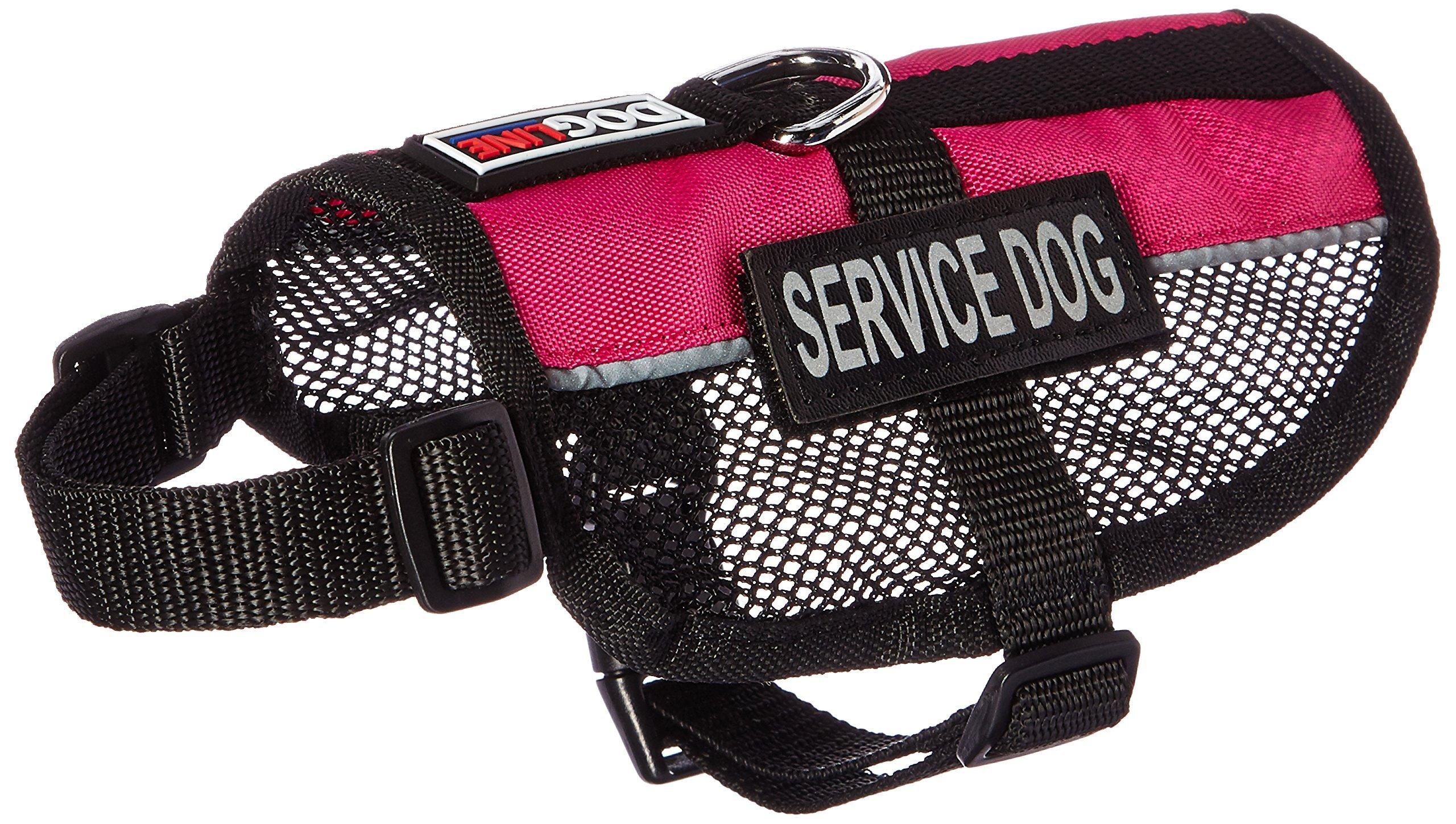 Dogline Service Dog Vest, 13 by 16-Inch, Pink