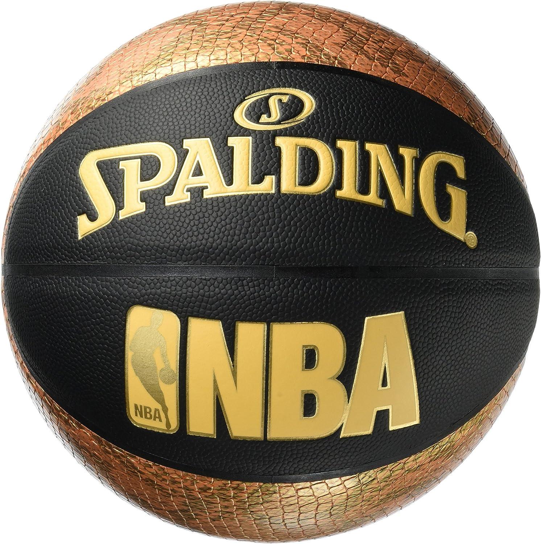 Spalding NBA Snake 76-039Z Balón de Baloncesto, Unisex, Negro ...