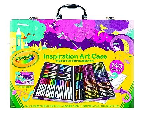 Amazon.com: Crayola Inspiration Art Case - Pink, Portable Art Studio ...