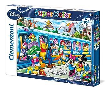 Clementoni - 27884 - Supercolor Puzzle - Disney family - 104 Pieces - Disney
