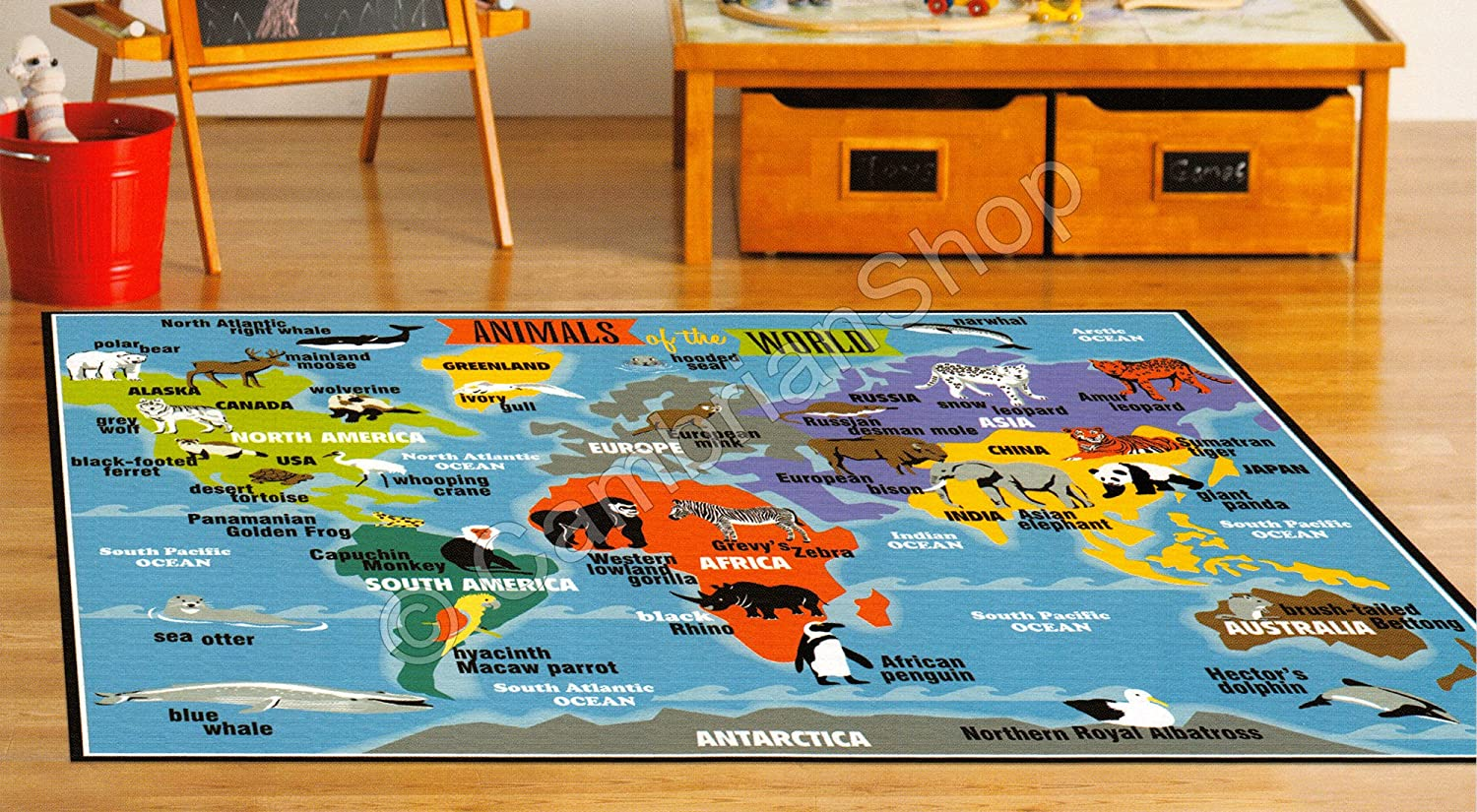 Teach Me Smithsonian Alfombra Infantil educativa - Atlas de Mapa ...