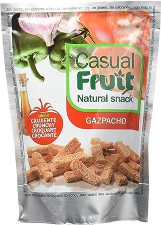 Snacks saludables de verdura. snack crujiente de Gazpacho natural. Aperitivo sano de gazpacho - verduras liofilizadas. Caja con 12 sobres individuales de snack crujiente . Dieta Mediterranea: Amazon.es: Salud y cuidado personal