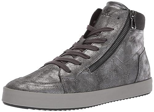 ead7b0e77e234 Geox Scarpe Donna Sneaker D BLOMIEE PRL.PR.SY+SY.Sue in Pelle Grigia  D826HA-0PVAF-C9004  Geox SP  Amazon.it  Scarpe e borse