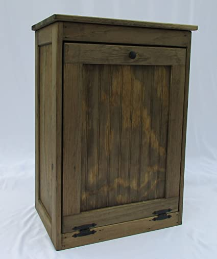 Ordinaire Wooden Tilt Out Trash Bin Hinged Top