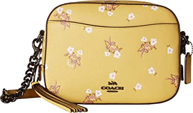 9ab4ca9b431a2 COACH Women s Camera Bag in Floral Printed Leather Dk Sunflower One Size   Handbags  Amazon.com
