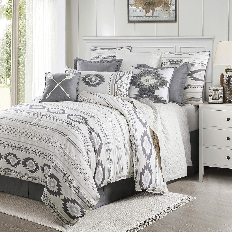 HiEnd Accents Free Spirit Comforter Set, Full/Queen, Grey