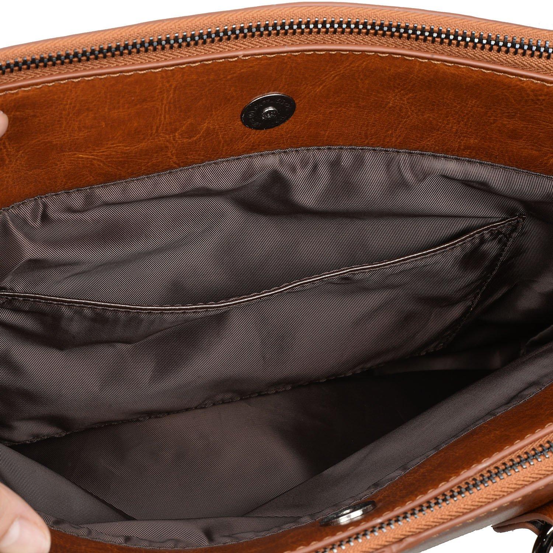 Yaluxe Mujer Double Zipper Cuero Genuino Saco De Mano Bolso De Hombro  Albaricoque: Amazon.es: Zapatos y complementos