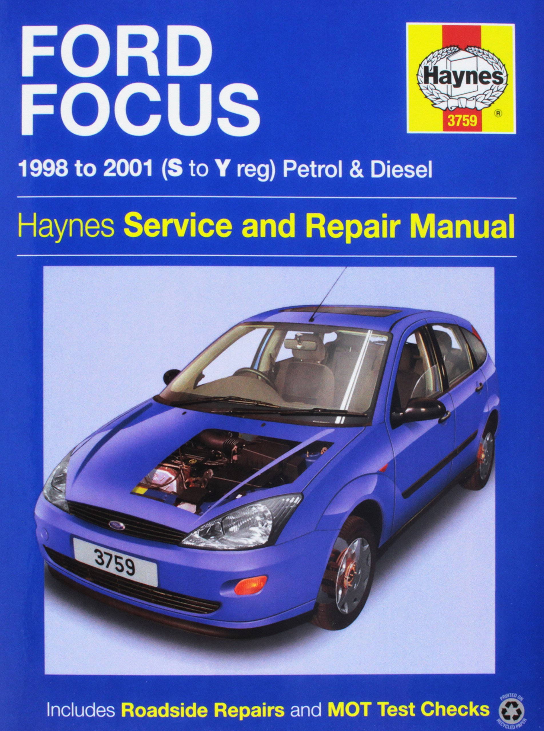 Ford Focus Service and Repair Manual (Haynes Service and Repair Manuals):  R.M. Jex, P. Gill: 0638876409506: Amazon.com: Books