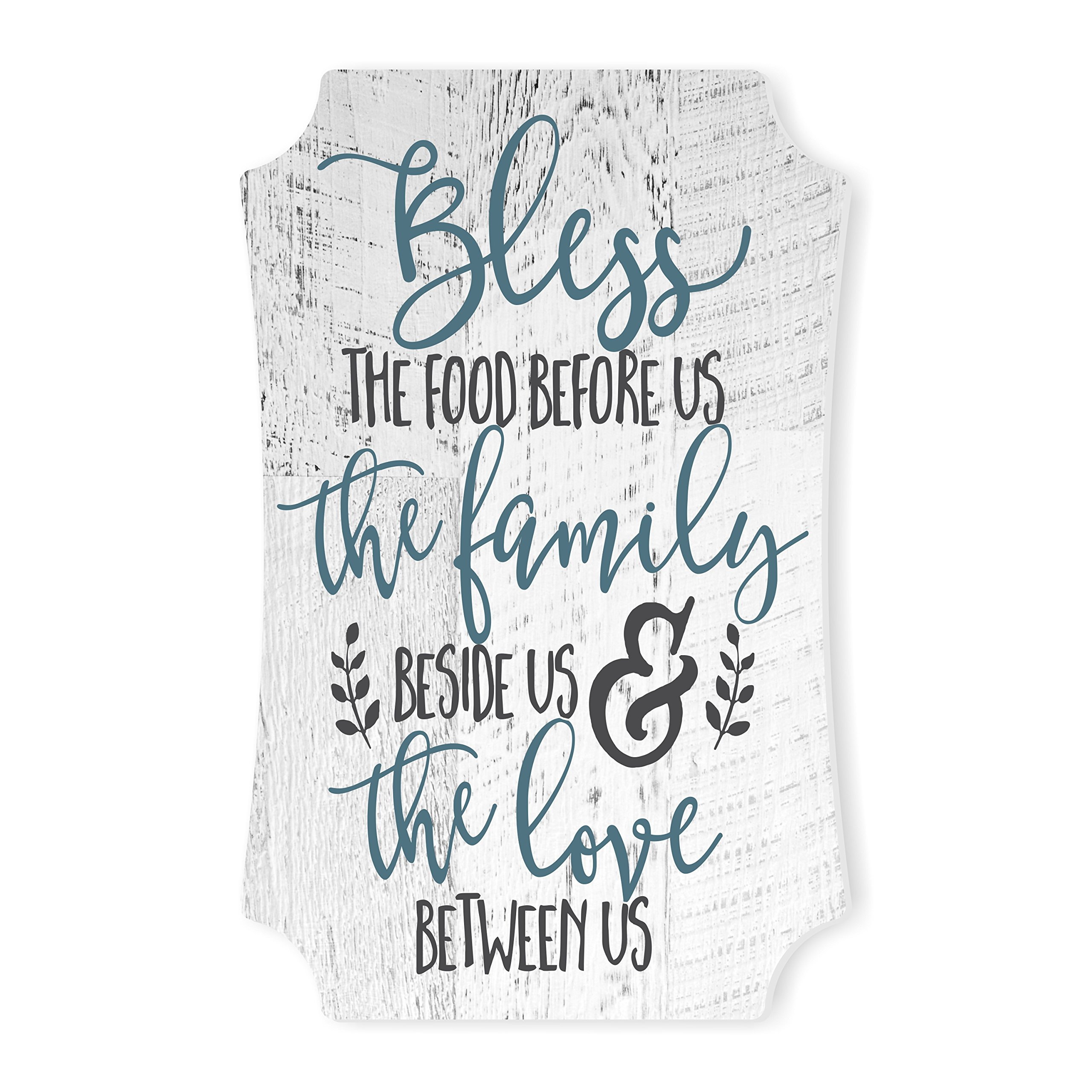 MRC Wood Products Bless The Food Before Us and The Family Beside Us Distressed Sign 12×8