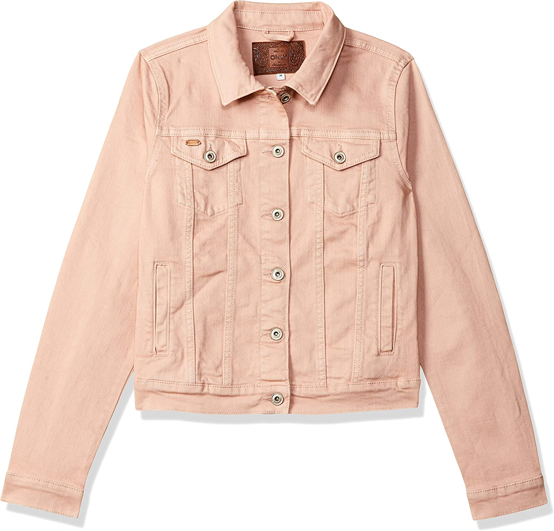 TALLA Large (Talla del fabricante: 40). Only Onlflair LS Colour Frill Jacket Pnt Chaqueta Vaquera para Mujer