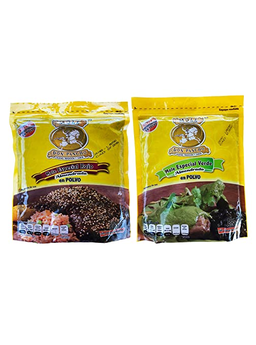 Amazon.com : Combo Mole Don Pancho Red and Green Almond Touch (Rojo y Verde Almendrado) : Grocery & Gourmet Food