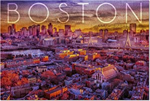 Boston, Massachusetts - Skyline at Sunset (Premium 1000 Piece Jigsaw Puzzle for Adults, 19x27, Made in USA!)