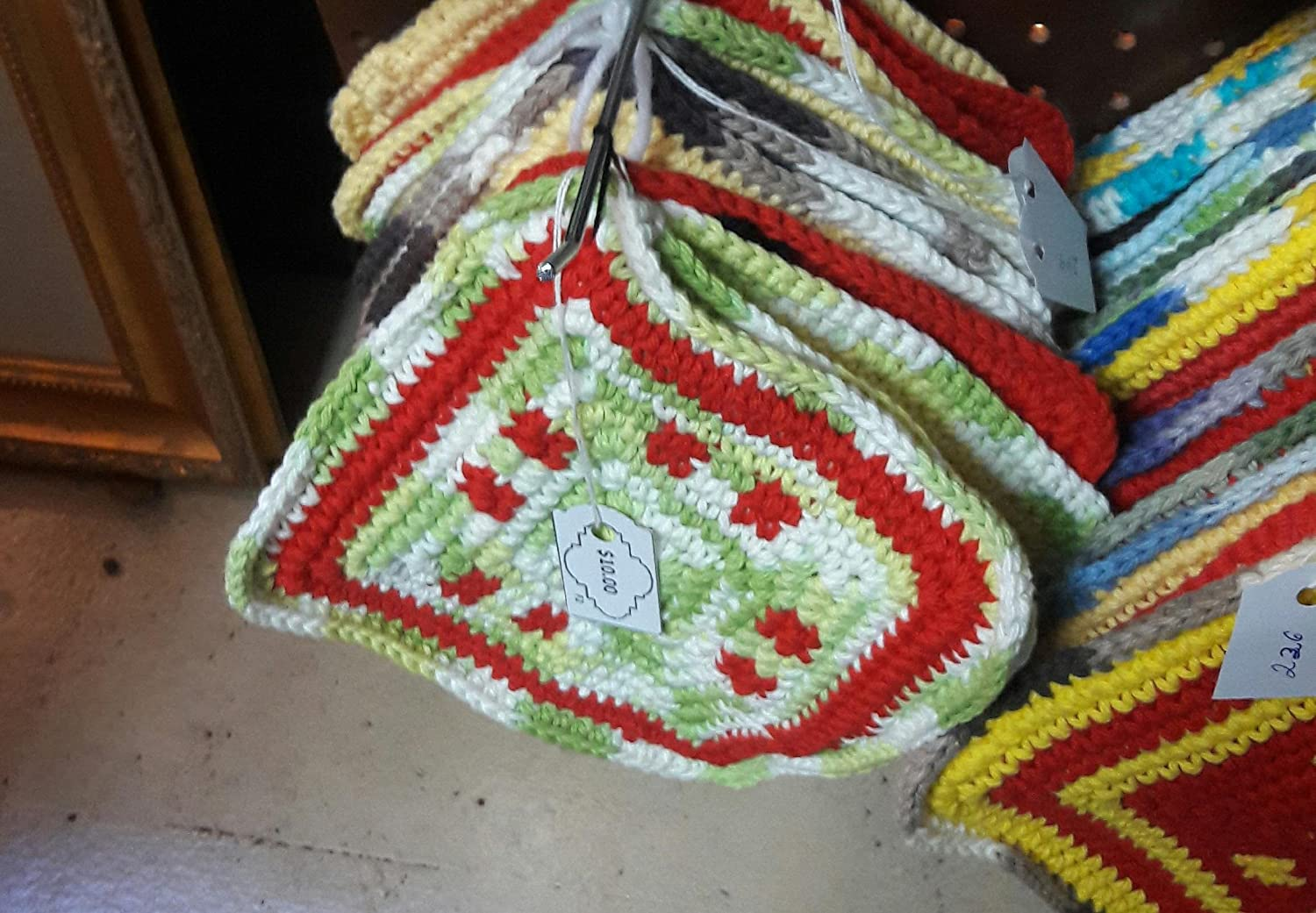 Small Crochet Double Thick Hotpads/Trivets