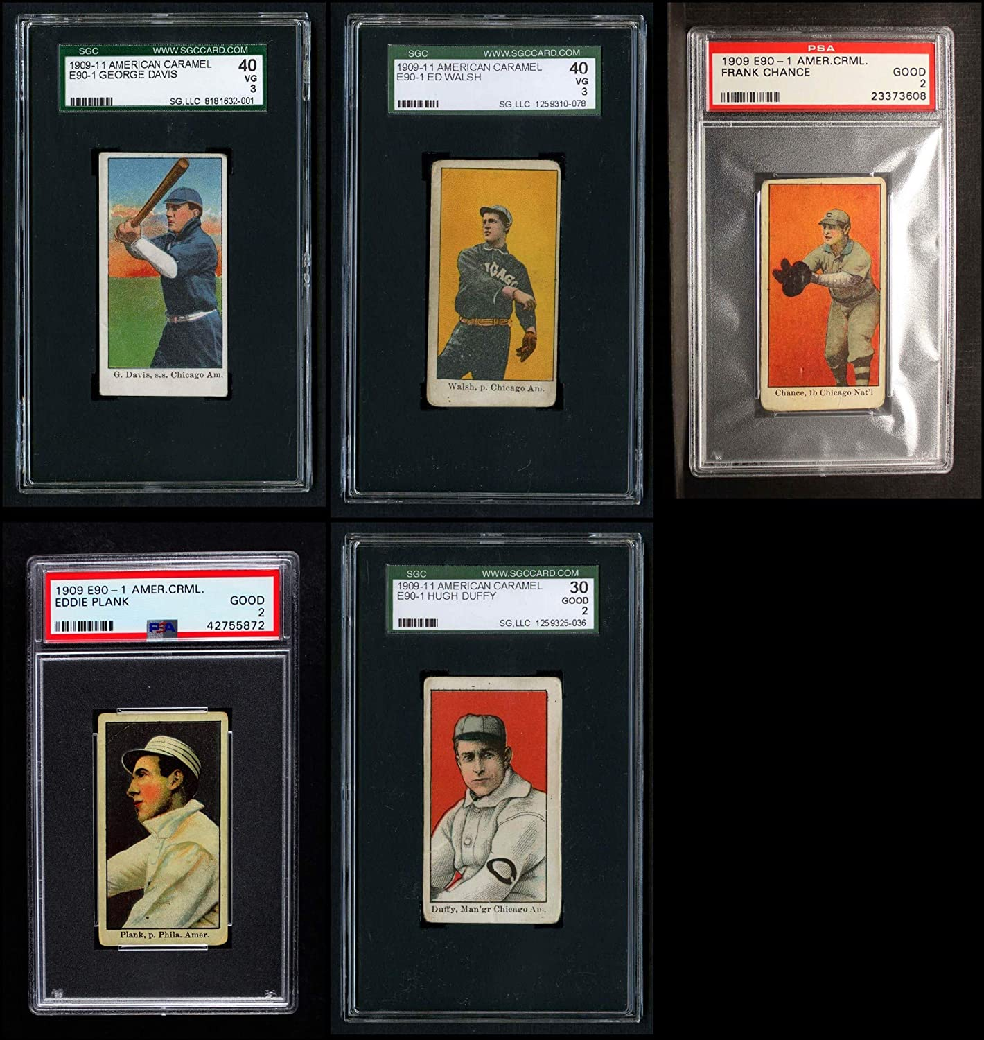 1909 E90-1 American Caramel Partial Complete Set (Baseball Set) Dean's Cards 2.5 - GD+ 91GWECI13iLSL1500_