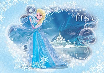 Disney Frozen Elsa Light Blue Wallpaper Mural