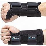Carpal Tunnel Wrist Brace Support and Metal Splint Stabilizer [Single] - Helps Relieve Tendinitis Arthritis Carpal Tunnel Pai