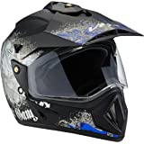 Vega Off Road Gangster ORDVDBR11 Helmet (Dull Black and Blue, M)