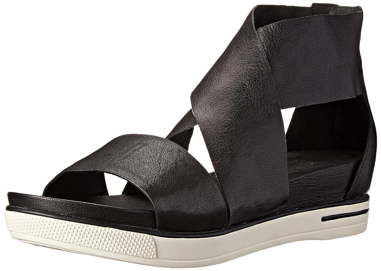 Black Tumbled Leather EileenFisher Women's Sport Dress Sandal