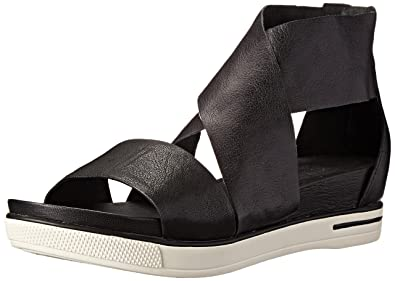 f1f1476753 Eileen Fisher Women's Sport Sandal, Black Tumbled Leather, ...
