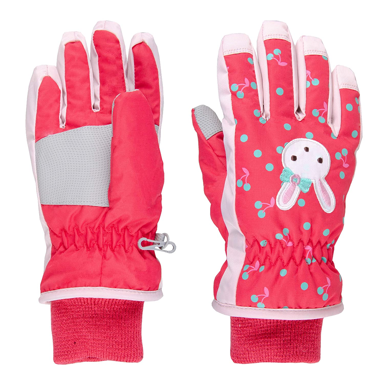 TRIWONDER Kids Winter Gloves Mittens Waterproof Ski Snow Gloves Mittens for Cold Weather Girls Snowboarding Skiing Sport