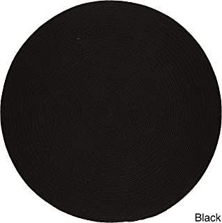 product image for Rhody Rug Madeira Indoor/Outdoor Braided Rug (4' Round) Black