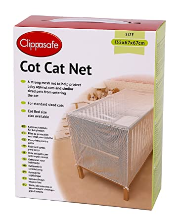 Amazon.com : Clippasafe Cot Cat Net - 135 X 67 X 67cm : Crib Insect Netting : Baby