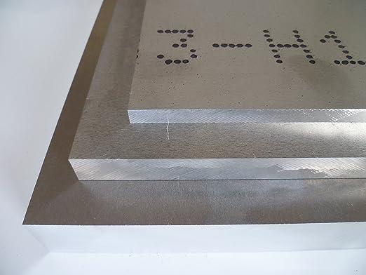 Plaque de 500 x 500 mm Tôle aluminium brut