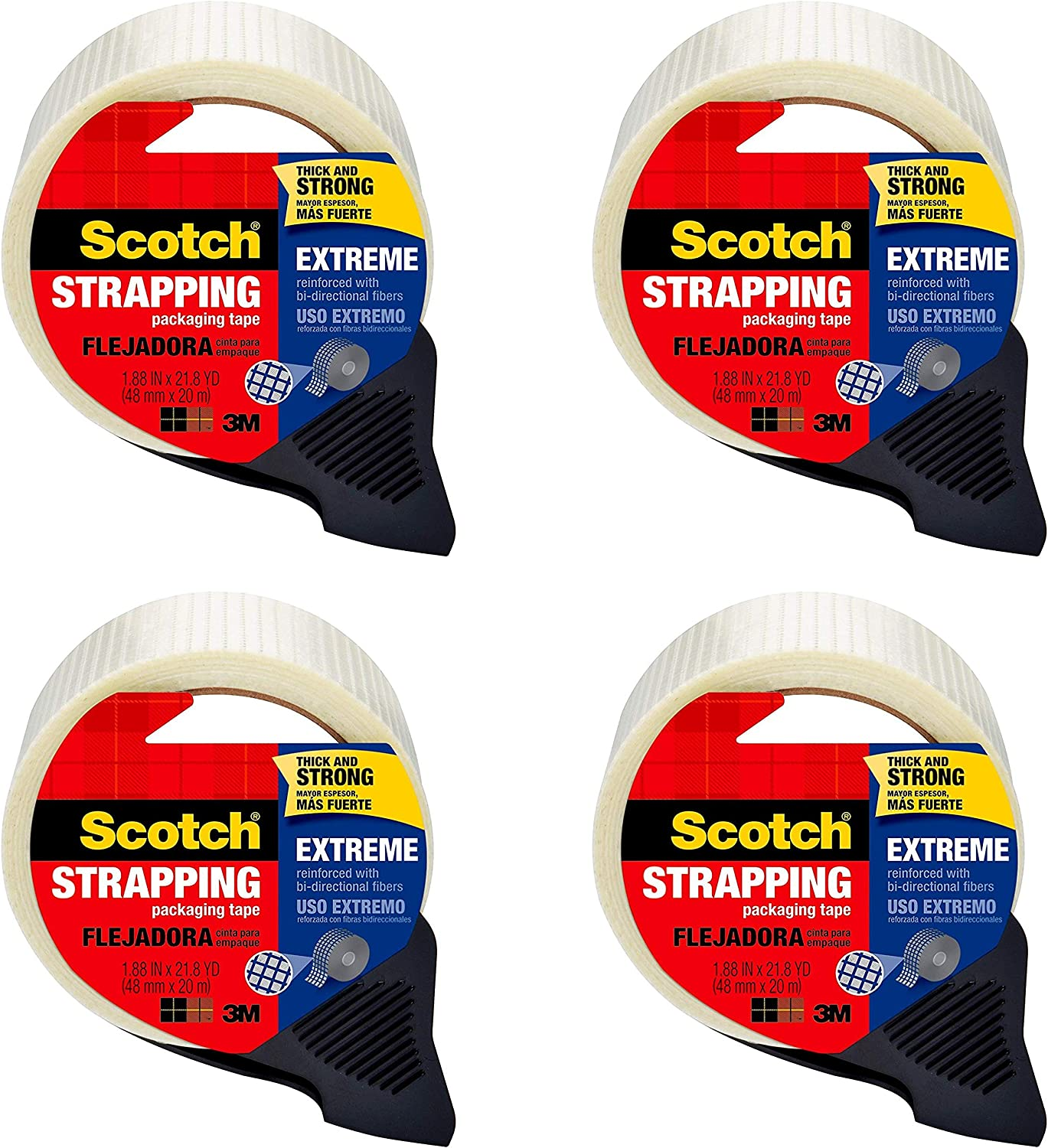 Scotch Extreme Tape 8959-RD 6-PACK 1.9 Inches x 21 Yards
