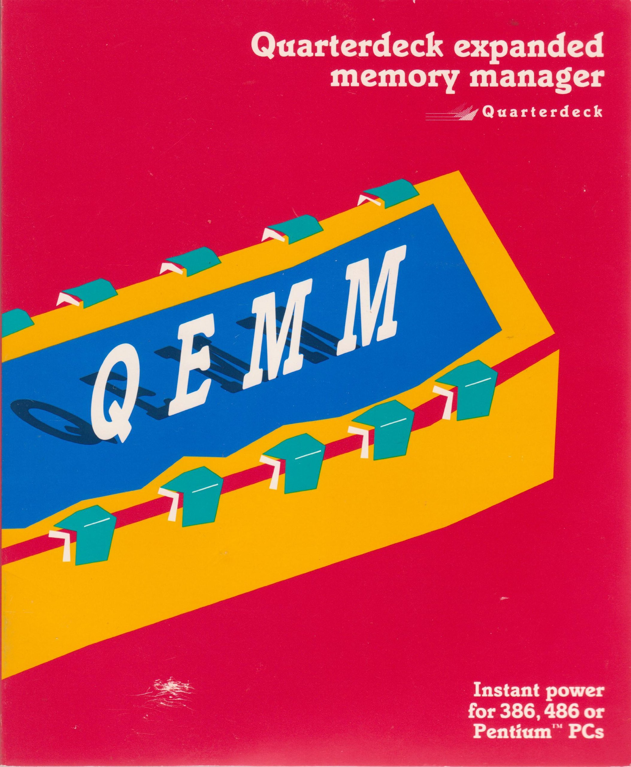 Quarterdeck expanded memory manager: QEMM, instant power for 386