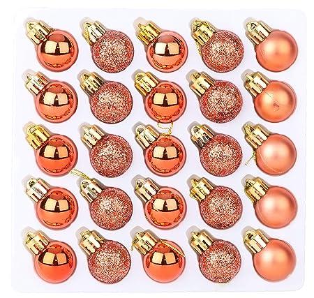 CHRISTMAS CONCEPTS Pack de 25 Brillante, Mate y Brillo Mini árbol ...
