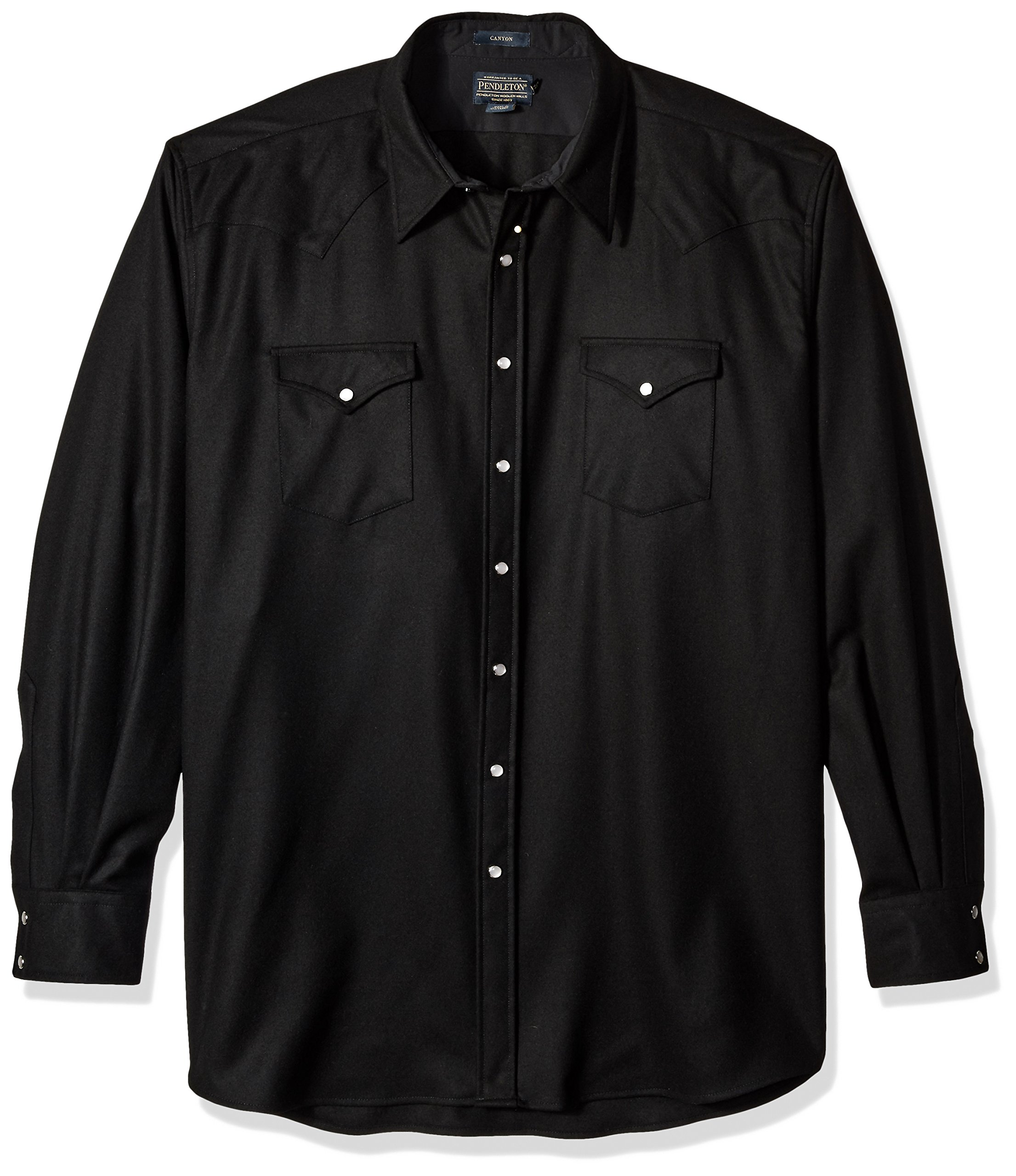 Pendleton Men's Big & Tall Long Sleeve Canyon Shirt, Black, 3X