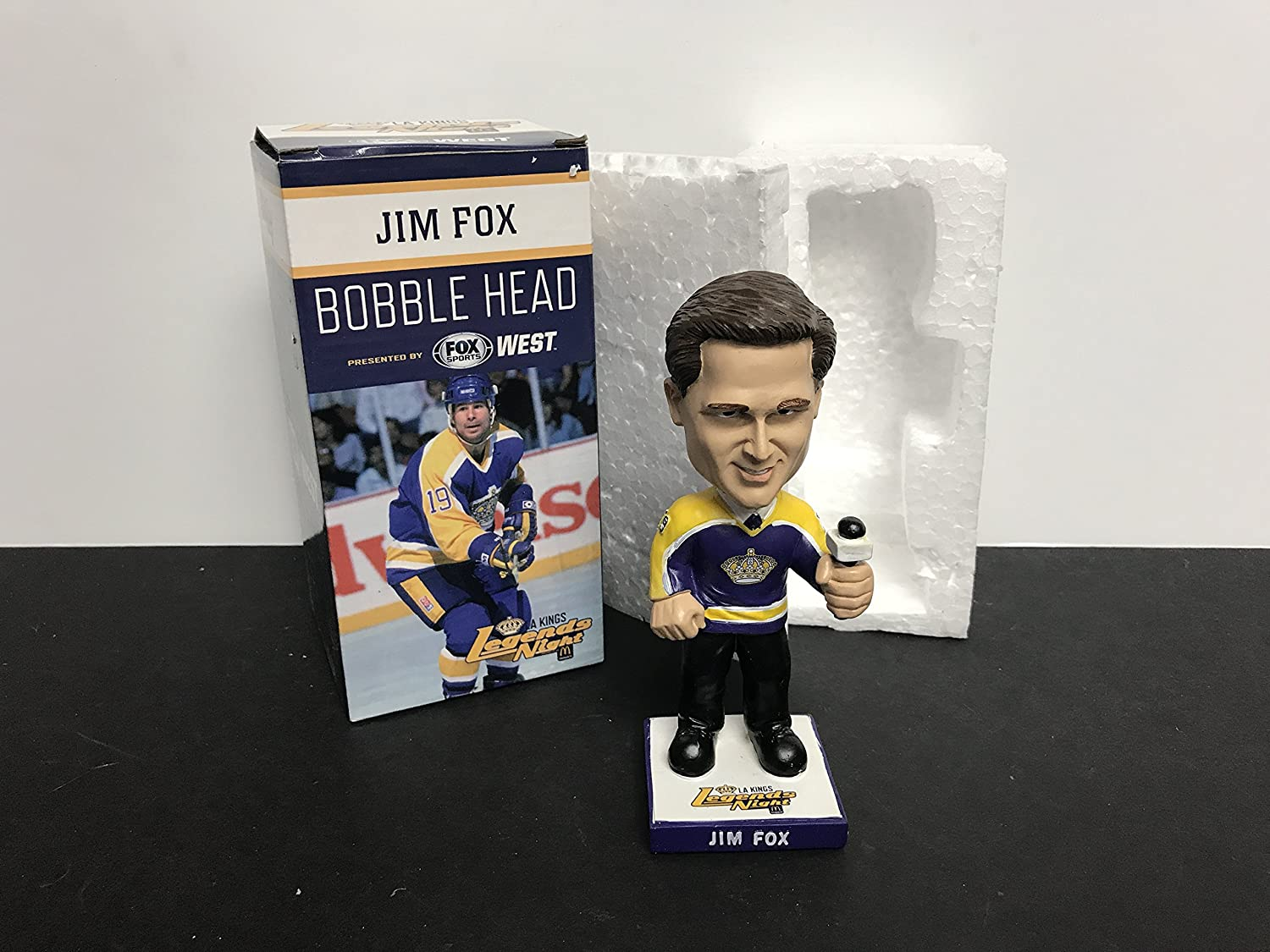 Jim Fox Legends Night Los Angeles Kings Bobblehead SGA