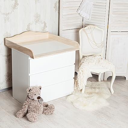 """PuckDaddy""""Nube 4"""" madera natural - Cambiador con cabecero curvado para todas las cómodas"""