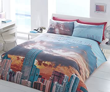 Miami Beach Sky Wendbar Digitaldruck Bettwäsche Set, Bettbezug Bettwäsche U0026  Kissenbezug Schlafzimmer Set (