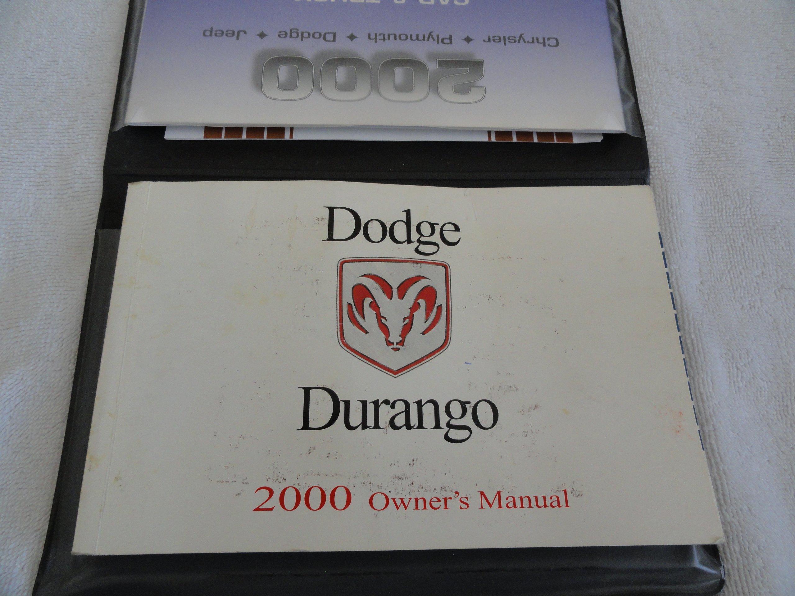 2000 Dodge Durango owners manual: DaimlerChrysler Corporation:  0740671106327: Amazon.com: Books