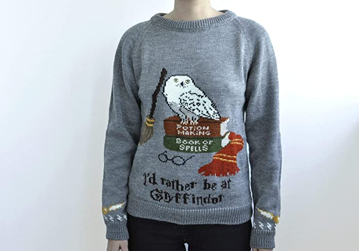 Amazoncom Harry Potter Hand Knitted Sweater Hedwig Sweater