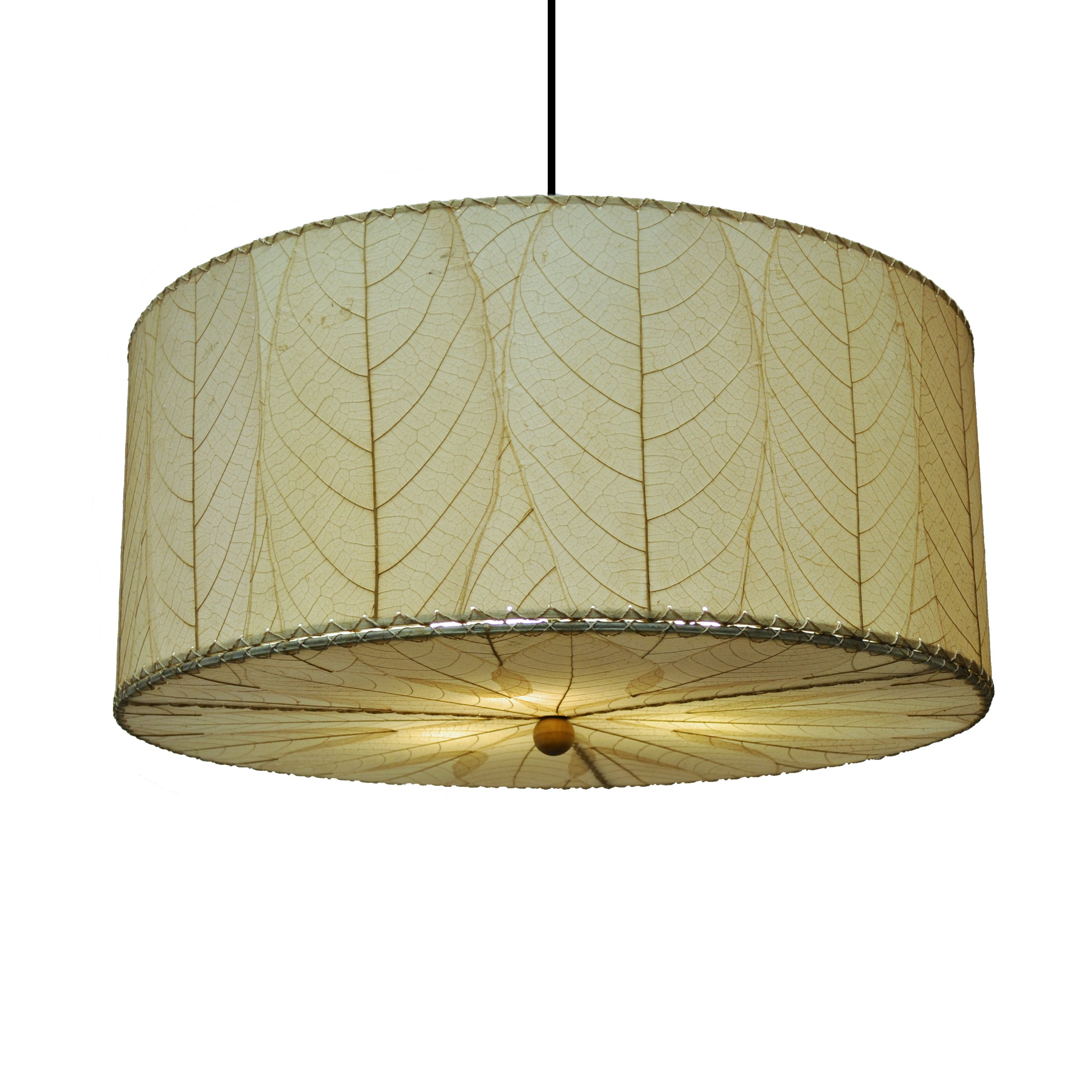 Eangee Home Designs 497 AN 3 Light Drum Large Pendant Light by Eangee Home Designs