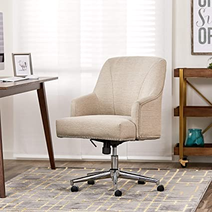 Serta Style Leighton Home Office Chair Twill Fabric Beige