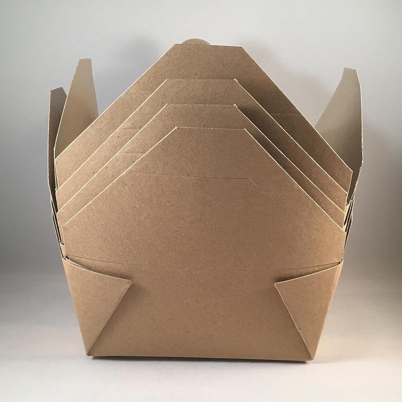25 unidades) caja grande de cartón para comida para llevar en la ...