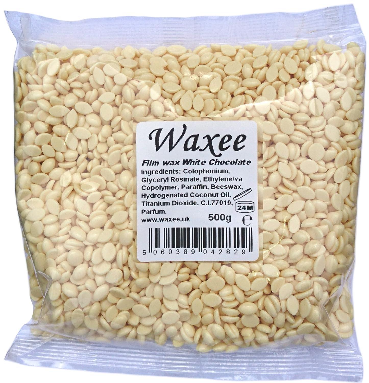 Film, Hard, Stripless hair removal Wax Pellets, Bikini, Brazilian waxing, HOT! No strips! (1000g, White Chocolate) Waxee