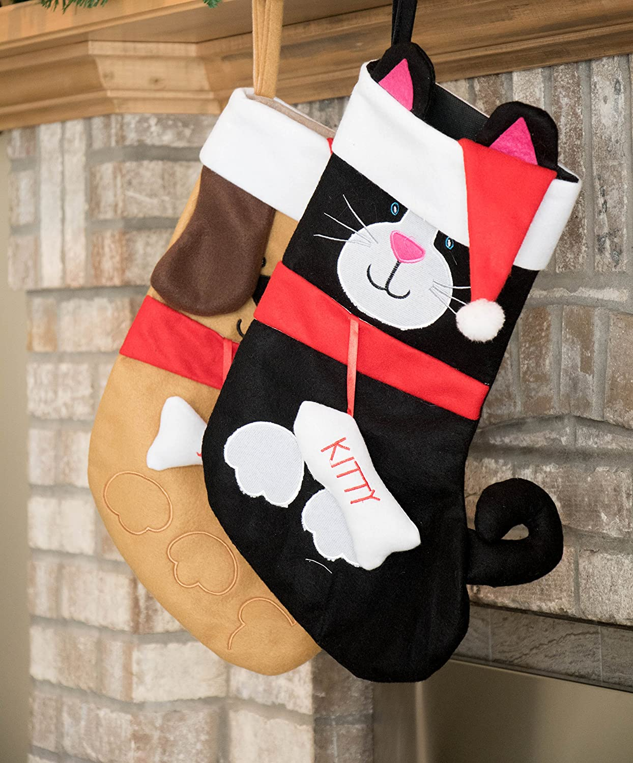 Kitty Cat Soft Plush Cloth Hanging Christmas Stocking