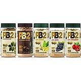 Bell Plantation PB2 Peanut Butter (Powdered) Mix 5-Pack Oroginal Chocolate, Banana, Grape & Strawberry limited edition